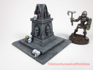 Corner view of death cult shrine T1589 in 25-28mm scale.