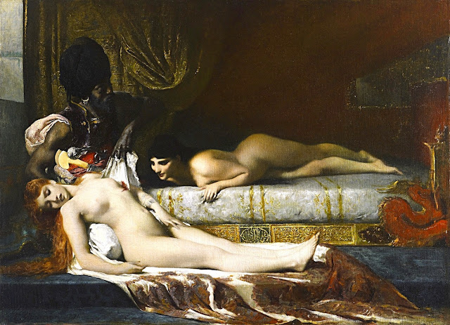 Fernand Cormon - Assassinio nell'harem - sex art