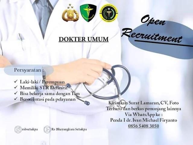 Loker Dokter RS Bhayangkara Setukpa Kota Sukabumi