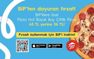 pizza hut turkcell bip kampanaysı