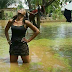 Slay Queen Strikes A Pose In Front Of Her Flooded House In Benue State (photos)