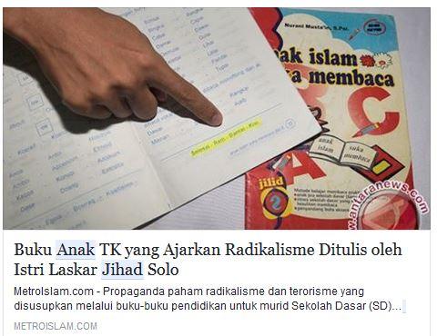 Awas, Teroris Indonesia Sebarkan Buku Petunjuk Perang untuk Anak-Anak