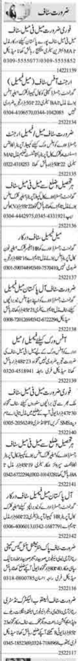 Daily Dunya Newspaper Classified Jobs 2021 in Islamabad