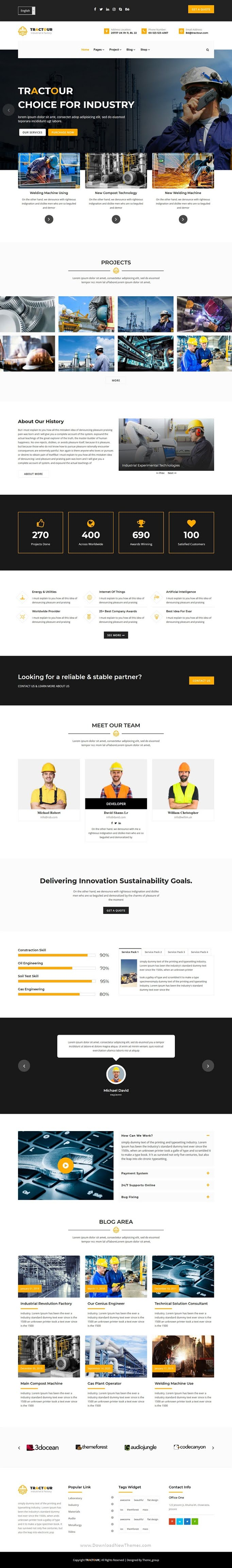 Industrial Manufacturing React JS Template