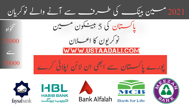 Bank Jobs In Pakistan For Fresh Graduates
