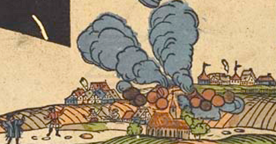 Muchos objetos destruyeron casas en la ciudad y se reportaron varios muertos