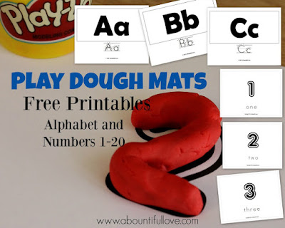 http://www.abountifullove.com/2016/02/alphabet-and-numbers-play-dough-mats.html