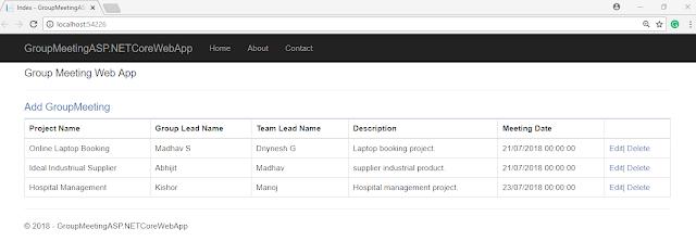 CRUD Operation In ASP.NET Core Using Dapper ORM