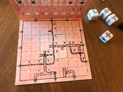 railroad ink blazing red edition board game