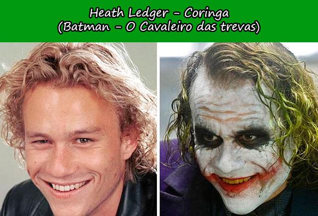 Heath Ledger - Coringa (Batman O Cavaleiro das trevas)