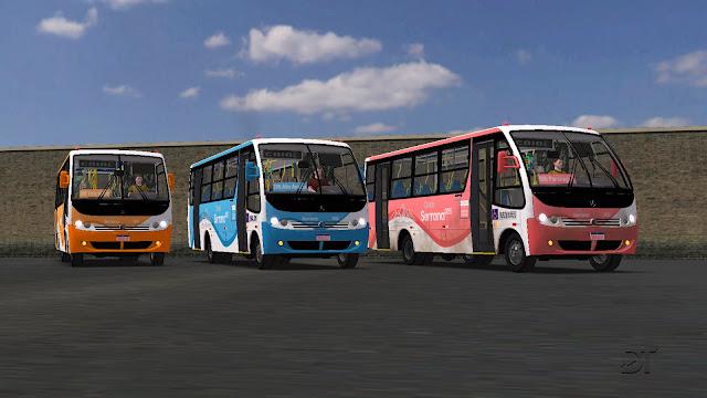 OMSI 2 - Pack de pinturas do mapa Cidade Serrana para o Caio Piccolo MB LO-914