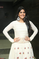 Megha Akash in beautiful White Anarkali Dress at Pre release function of Movie LIE ~ Celebrities Galleries 008.JPG