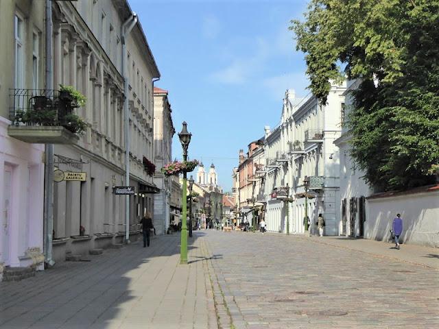 via del centro storico di kaunas