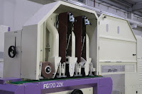 two abrasive belt stations combined with one abrasive brush station for surface finishing