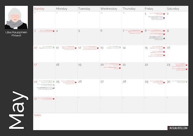 Deaf Calendar May 2020