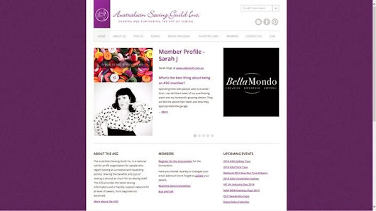Australian Sewing Guild website