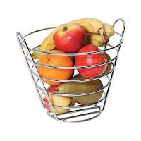 Cos pentru fructe din sarma placata cu crom  Ø 215x(H)205 mm