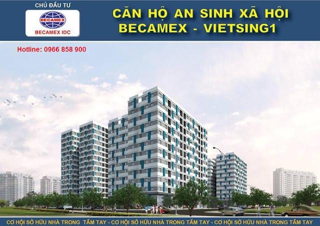 Nhà ở an sinh trung cấp tại KDC Việt Sing, phối cảnh khi hoàn thành giai đoạn 2