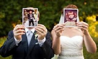 حوار طريف بين عروسين