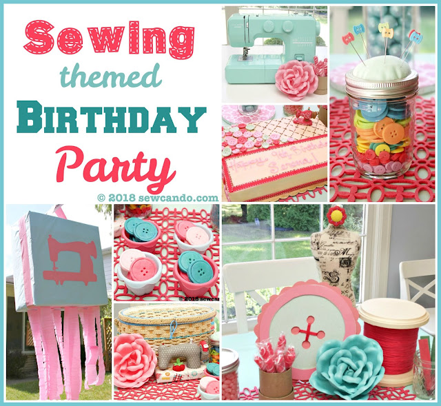 Sewing birthday party inspiration