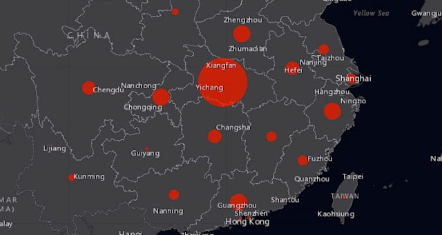 This website tracks the spread of Chinese coronavirus around the world in real time