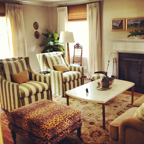 Pure Style Home: Clients' Traditional Living Room Before