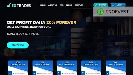 🥇Ex-Trades.com: обзор и отзывы [Кэшбэк 5% + Страховка 500$]