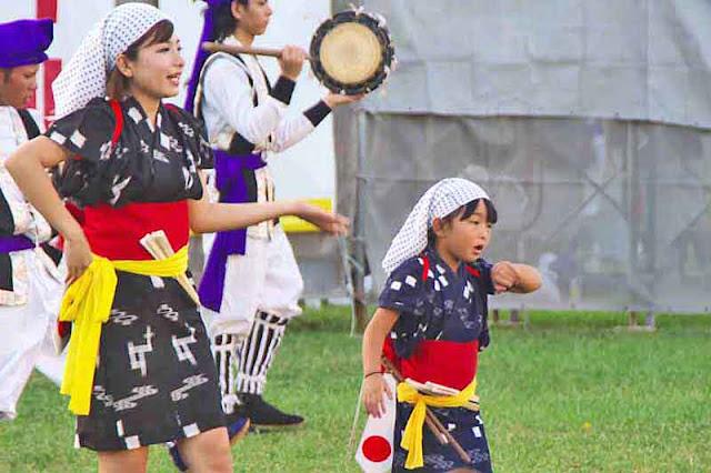 dance, Eisa, festival, Kin Dam, matsuri, Okinawa, child