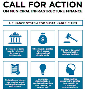 C40's demands for municipal infrastructure finance.