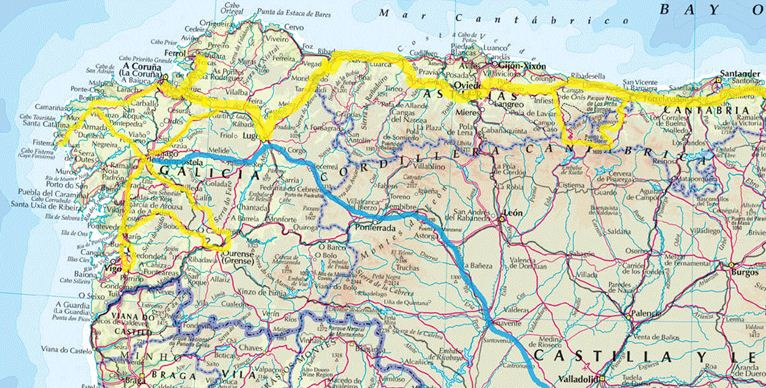 Road Map Of Northern Spain.Detailed Map Northern Spain Related Keywords Suggestions