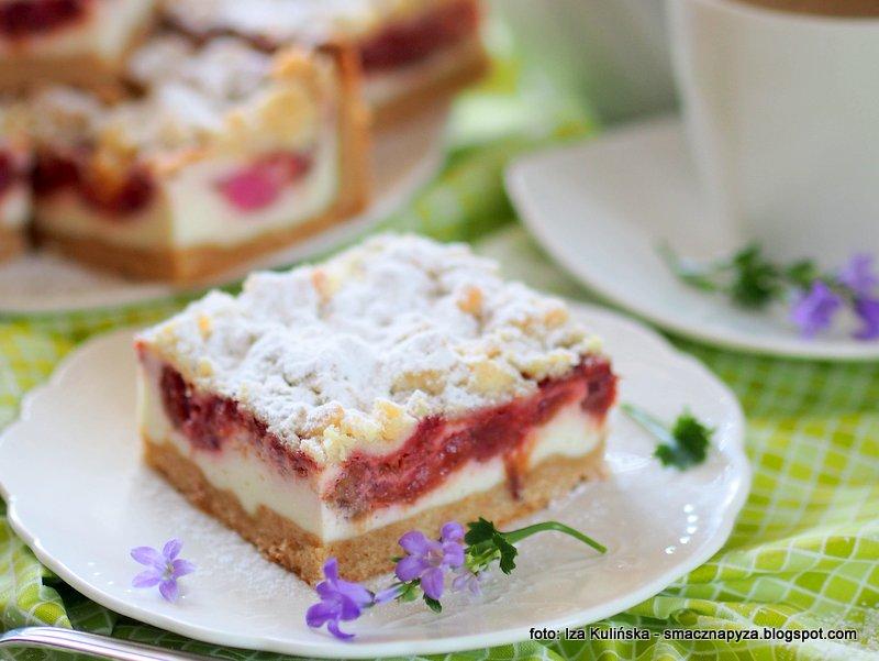 ciasto z bialym serem i rabarbarem, rabarbar, owoce, twarow, ser bialy, ciasta domowe, sprawdzony przepis, domowe ciacho, na oslode