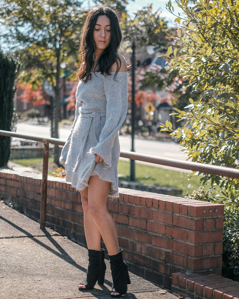 vici collection sweater dress winter outfit ideas to try now