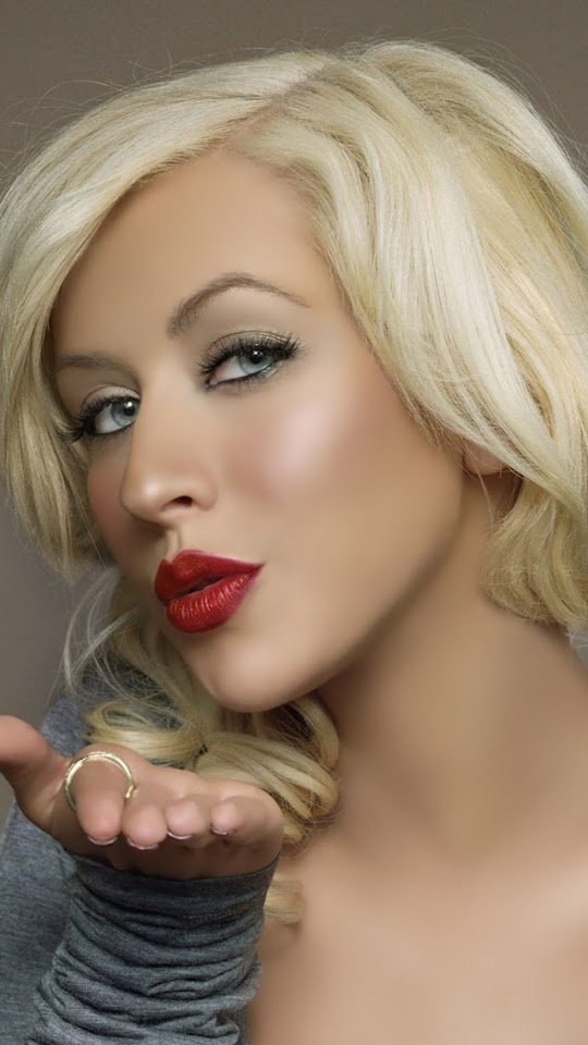 Christina Aguilera Kiss   Galaxy Note HD Wallpaper