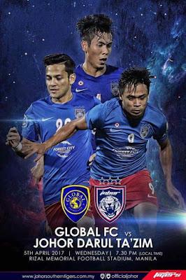 Live Streaming Global FC vs JDT FC AFC Cup 5 April 2017