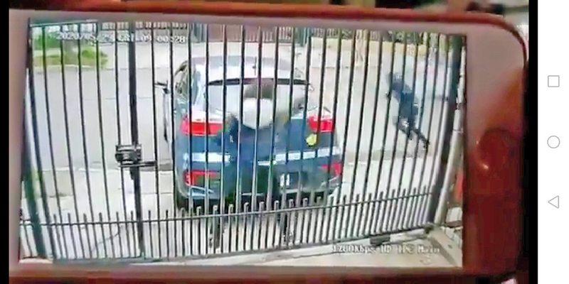 Impactante video de detective que evitó portonazo en Maipú