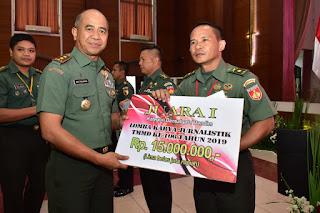 Dandim 0703/Cilacap Sabet Juara I Lomba Karya Jurnalistik TMMD