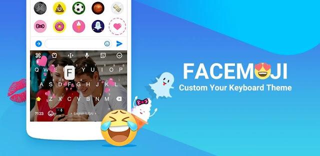 تنزيل  Facemoji Emoji Keyboard pro  قم بتخصيص لوحة مفاتيح أندرويد