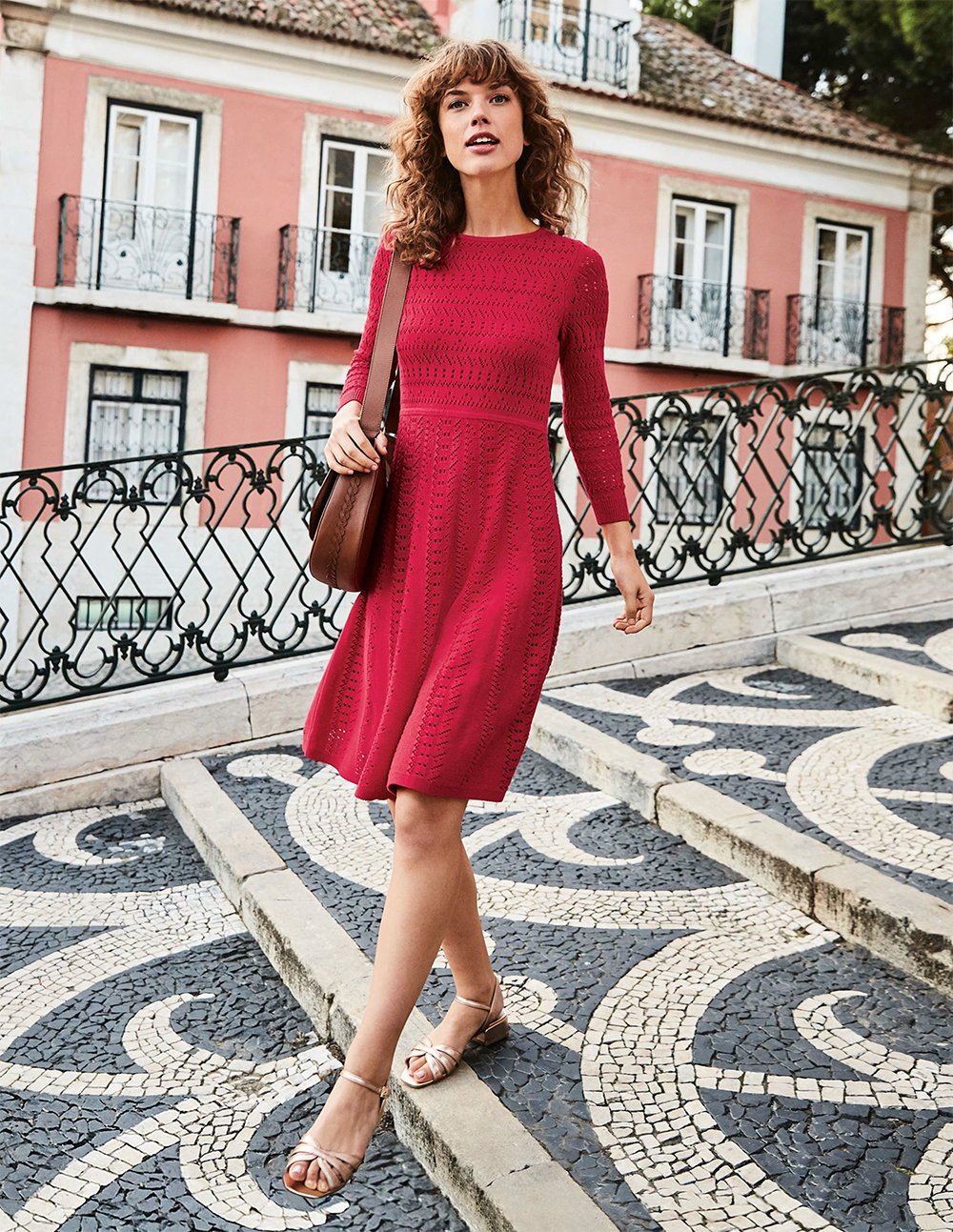 Boden red Poppy Knitted Dress - UK style blog