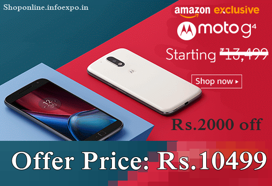 Moto G4 special offers new year 2017 offers on motorola smartphones, amazon new year smartphone offers flipkart motorola moto g4  moto e3, moto g4 flat Rs.2000 discount sale, best moto g4 offers price amazon india best buy