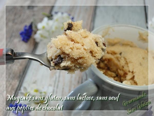 mugcake aux pépites de chocolat, sans oeuf