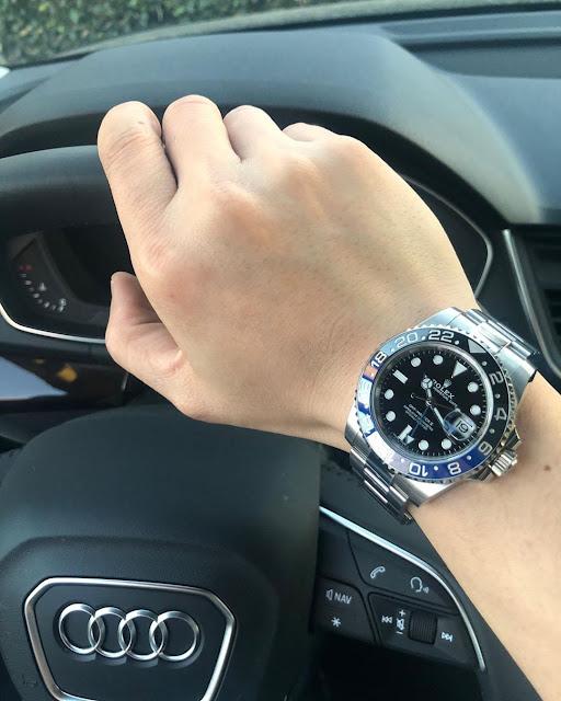 Rolex GMT Master II Batman Ref. 126710BLNR on the wrist