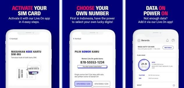 Cara Beli dan Registrasi Kartu Kuota Internet Live.On