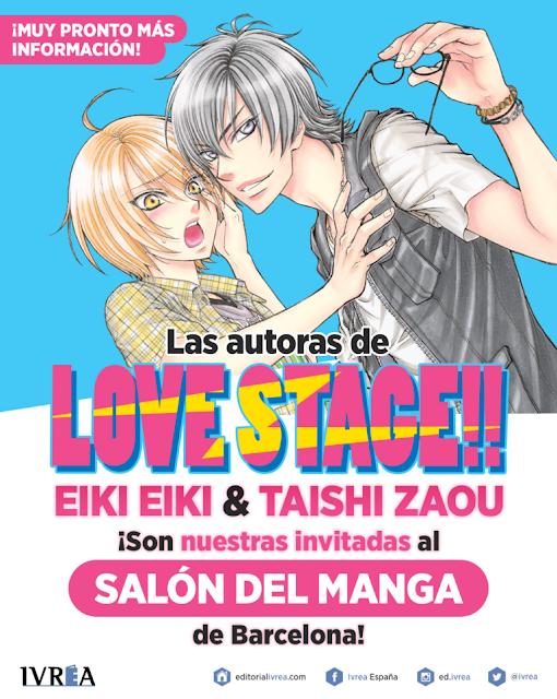 EIKI EIKI Y TAISHI ZAOU, las autoras de LOVE STAGE!!, invitadas al Salón del Manga de Barcelona.