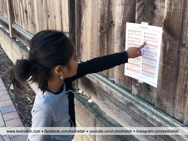 Keshalish The Name Game Workout Challenge Easy Fitness Challenge For Kids Customize Your Workout