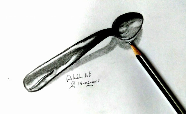 3D PENCIL DRAWING - TABLESPOON