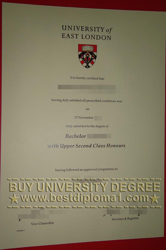 Buy University of East London degree