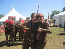 My student & me after completing the Warrior Dash