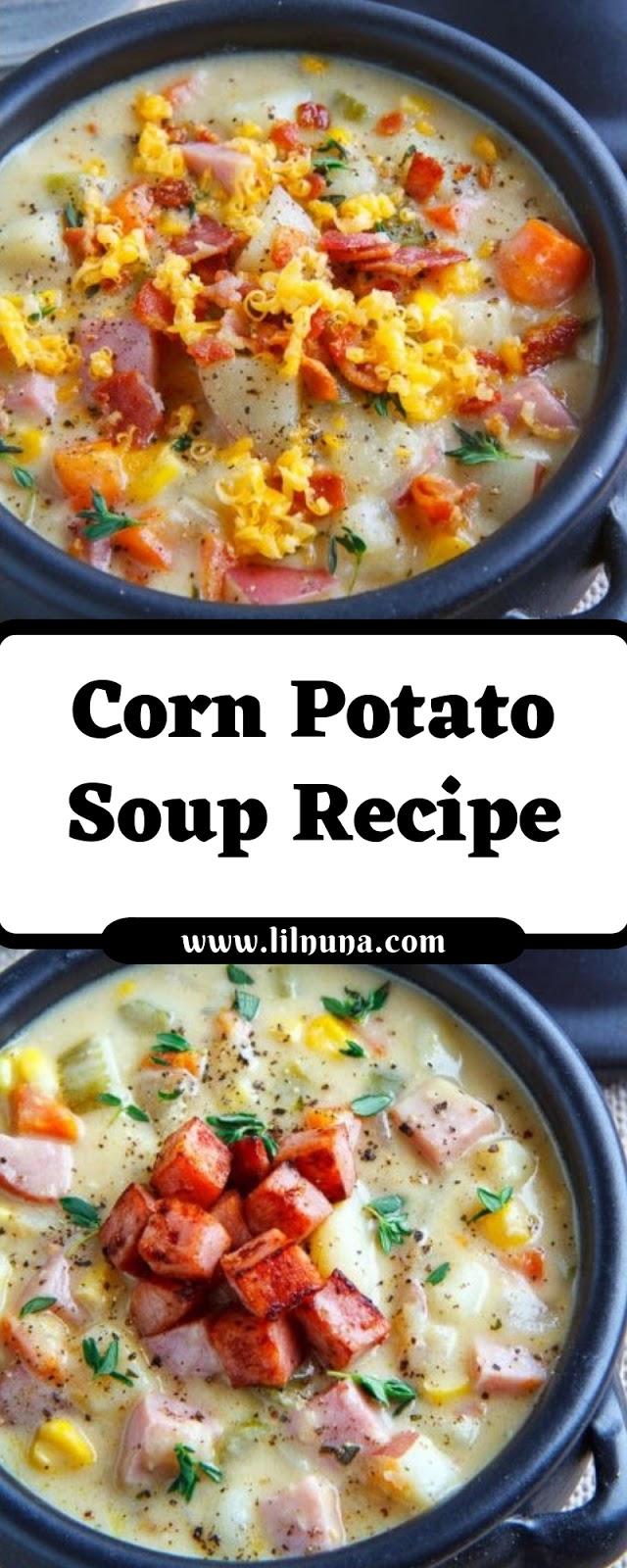 Corn Potato Soup Recipe