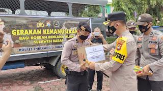 Kapolres Enrekang Lepas Pemberangkatan Bantuan Korban Bencana Gempa Sulbar