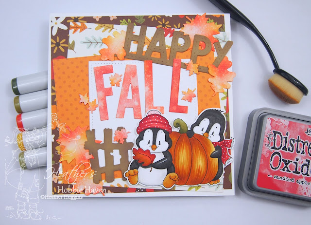 Heather's Hobbie Haven - Whimsy Stamps - Penguin Pumpkin Patch